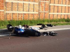 Dopravní nehoda motocykly Třeboň II.